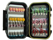 Steelhead/Egg Fly Assortment by Wild Water, 42 Flies with Small Fly Box