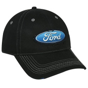 Outdoor Cap 6 Panel Frayed Visor HK/LP Tape Black Ford Cap