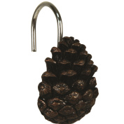 River's Edge Pinecone Shower Curtain Hook Set
