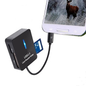 Juslink Trail/ Scouting/ Game Camera Viewer for Android Devices, Micro Usb Connexion, Reads SD/micro SD/mini SD/MS/M2 Cards for Hunting and Game Camera Card Reader
