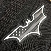 Dark Knight US Flag Patch - Ghost Edition