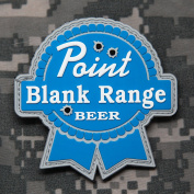 Point Blank Range Beer - PVC Morale Patch, Hook and loop Morale Patch by NEO Tactical Gear
