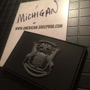 MICHIGAN STATE FLAG PVC PATCH - GHOST EDITION