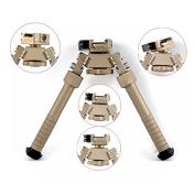 Green Blob Outdoors (Dark Earth DE) CNC QD Tactical 17cm - 23cm Bipod Adjustable