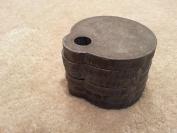 Set of (6) 7.6cm AR500 Steel Gong Shooting Target 3/8 Single Hole From Bullseye Metals