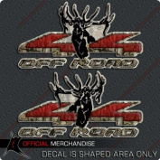 Elk 4x4 Truck Sticker Decal Bull Hunting Camouflage Camo