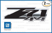 GMC Sierra Z71 4x4 Special decals stickers Black Blackout - FSBLK (2007-2013) bed side 1500 2500 HD