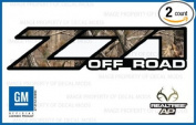 Chevy Silverado RealTree AP Z71 Off Road decals stickers - AP (2001-2006) bed side 1500 2500 HD