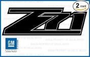 GMC Sierra Z71 BLACK Blackout decals stickers - FBLK (2007-2013) bed side 1500 2500 HD