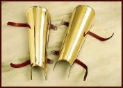 Beinschienen Pair of Brass-Beinröhren, Griechen Mediaeval, LARP / Römer