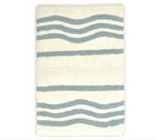 stylehouse WK681601 Cotton Wave Bath Rug with Latex Backing,Aqua,60cm X 43cm
