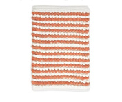 stylehouse WK681591 Striped Bath Rug with Latex Backing,Coral,60cm X 43cm