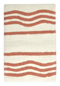 stylehouse WK681600 Cotton Wave Bath Rug with Latex Backing,Coral,60cm X 43cm