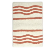 stylehouse WK681605 Cotton Wave Bath Rug with Latex Backing,Coral,50cm X 80cm