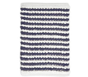 stylehouse WK681594 Striped Bath Rug with Latex Backing,Navy,50cm X 80cm