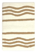stylehouse WK681603 Cotton Wave Bath Rug with Latex Backing,Brown,50cm X 80cm