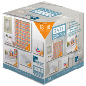Indecor Home BB11-1169-PI 18Pc Bath Bundle - Pink Jack & Jill,Pink / Jack & Jill