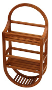 Bare Decor Teak Shower Caddie