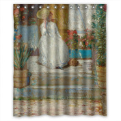 PILLO Width X Height / 60 X 72 Inches / W H 150 By 180 Cm Louis Anquetin - In The Sun Shower Curtains Polyester Fabric Ornament And Gift To Relatives Birthday Birthday Girls. Durable