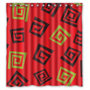 PILLO Shower Drape Width X Height / 66 X 72 Inches / W H 168 By 180 Cm(fabric) Nice Choice For Father Lover Father Him Custom. Healthy Geometry Polyester