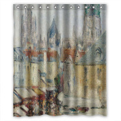 PILLO Width X Height / 60 X 72 Inches / W H 150 By 180 Cm Gustave Loiseau - Rue De L Epicerie A Rouen Shower Curtains Polyester Fabric Ornament And Gift To Bf Boys Gf Boys Girls. Easy Cl