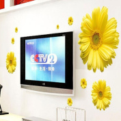 Wall Sticker,Laimeng,New Yellow Chrysanthemums Home Decal