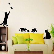 Wall Stickers,Laimeng,Cats Butterfly DIY Art Home Decals Mural
