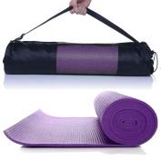 Extra Thick Non-slip Yoga Mat Pad Exercise Fitness Pilates w/ Bag 170cm x 60cm # Purple
