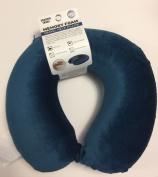 Sharper Image Memory Foam Travel Pillow Blue