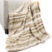 battilo Luxury Double Layer Reversible Fleece Throw Blanket, Extra Warm