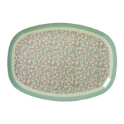 Rectangular Melamine Plate with Mini Floral Print by Rice DK