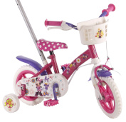 """Disney Volare31008 25cm """"Volare Minnie Mouse Bow-Tique"""" Deluxe Girls Bicycle with Push Bar"""