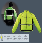 Sports Jacket for cycling/running with removable sleeves MEDIUM