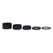 "5PCS New Quality Alloy Black Headset Spacers 1 1/8"" - 3mm, 5mm, 10mm, 15mm, 20mm"