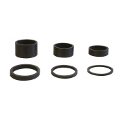 "6PCS Light Weight UD Carbon Matte Black Headset Spacers 1 1/8""-2mm,3mm,5mm,10mm,15mm,20mm"