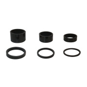 """6PCS Light Weight UD Carbon Bright Black Headset Spacers 1 1/8""""-2mm,3mm,5mm,10mm,15mm,20mm"""