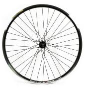 Wilkinson Rear Wheel 36 Hole Hybrid Double Wall Rim, V-Brake, Quick Release Shimano 8/9/10 Speed Hub, Black Spokes - 700C x 135 mm, Black