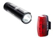 CatEye Unisex Volt 80 Front/Rapid Micro Set-HL-EL050RC/TL-LD620 Lights and Reflectors-Cycling, Black, NO SIZE