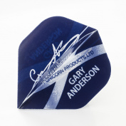5 x SETS UNICORN GARY ANDERSON SIGNATURE DART FLIGHTS BIG WING