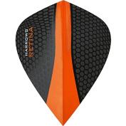Harrows Retina Dart Flights - 5 Sets (15) - 100 Micron Extra Strong - Kite - Orange