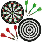 #1 Unibos Large Dartboard Double Sided Dart board with 6 Darts Party Game Set Doink It  .   HURRY