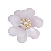 Pink Quartz Stone Azalea Beauty Floral Pin-Brooch