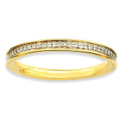 Sterling Silver Stackable Expressions & Diamonds Gold-plated Ring