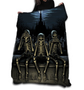 SEE NO EVIL Fleece Blanket / Throw / Tapestry etc.Official Anne Stokes Offical Merchandise