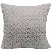 Better Homes and Gardens 60cm Rosette Plush Pillow, ivory