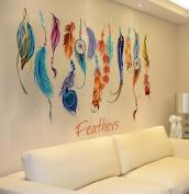 FUNIC Classic Creative Dream Catcher Feather Wall Sticker Art Decal Mural