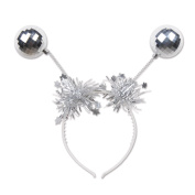 Beistle 20813 3 Piece Silver Ball Boppers, Silver