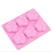 Multifunction Dog Paw print silicone mould for baking freezing moulds cake mould candy moulds soap mould