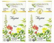 Celebration Herbals Organic Thyme Tea Caffeine Free - 2 Pack