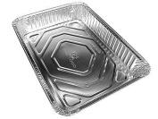 Durable Packaging Large 33cm x 23cm Bbq Grill Drip Foil Pan Ref #4700 20/Pk